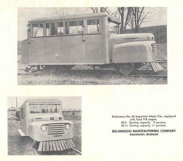 Kalamazoo Manufacturing Company Railroad Products